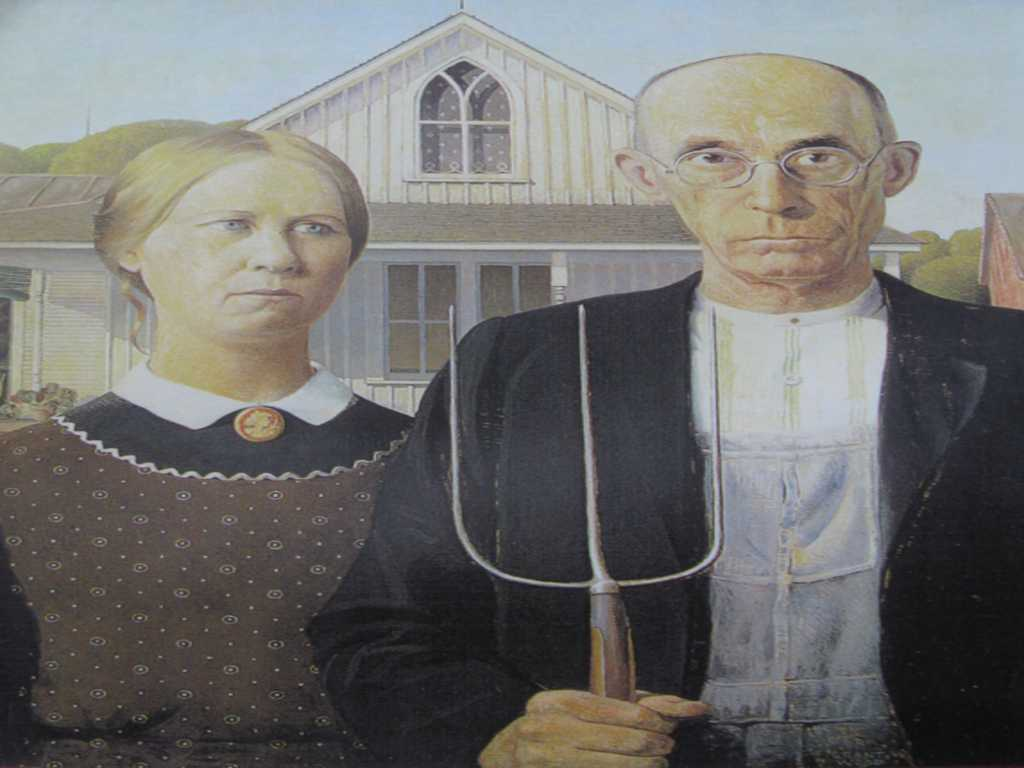 farm man and woman in usual gender roles